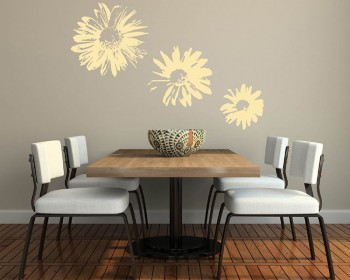 Chrysanthemum Flower Vinyl Decals Modern Wall Art